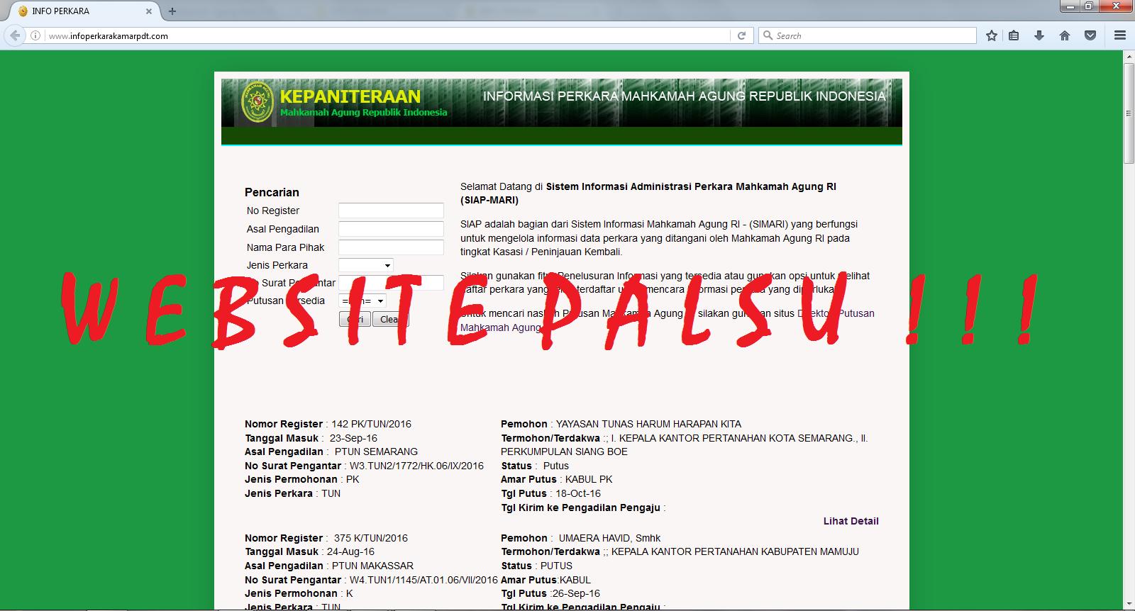 WASPADA TERHADAP WEBSITE