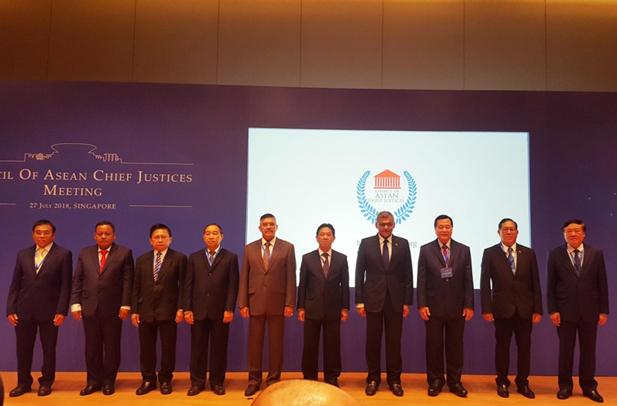 KETUA MAHKAMAH AGUNG RI HADIRI PERESMIAN PORTAL HUKUM ASEAN