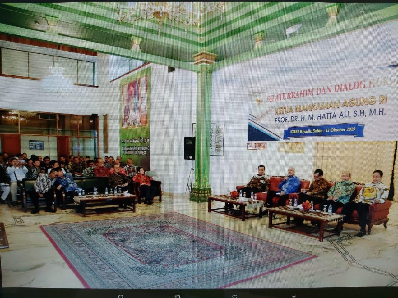 SILATURAHMI DAN DIALOG HUKUM KETUA MAHAKAMAH AGUNG R.I. BERSAMA WARGA NEGARA INDONESIA DI RIYADH