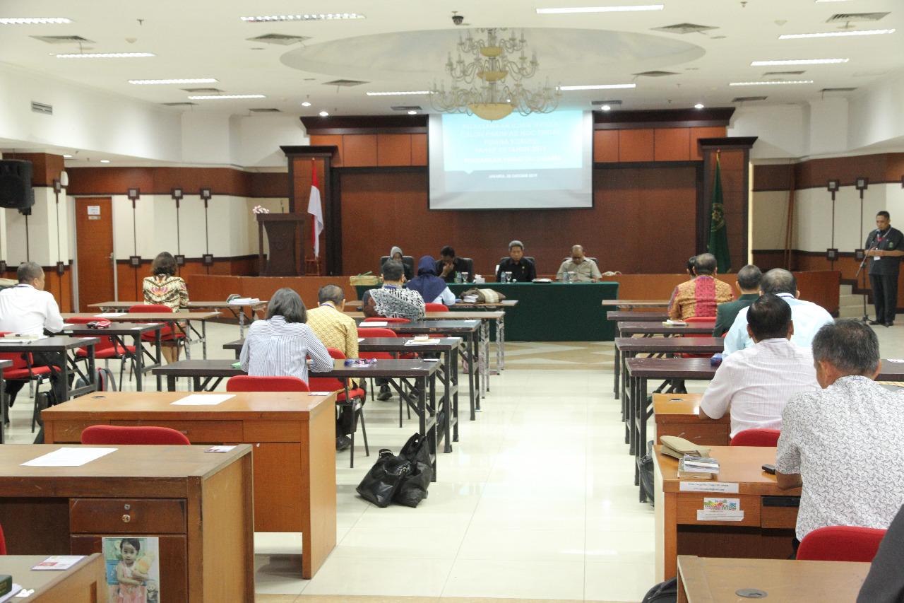 Sebanyak 259 Cakim Ad Hoc Tipikor Mengikuti Tes Tertulis Yang Di Selenggarakan Oleh MA Di 16 Wilayah Povinsi