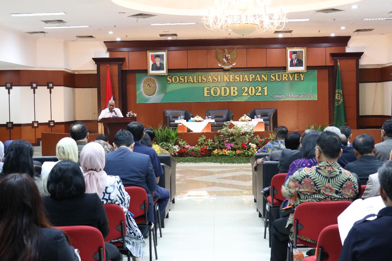 Wakil Ketua MA Bidang Yudisial Membuka Kegiatan Sosialisasi Kesiapan Survey EODB 2021