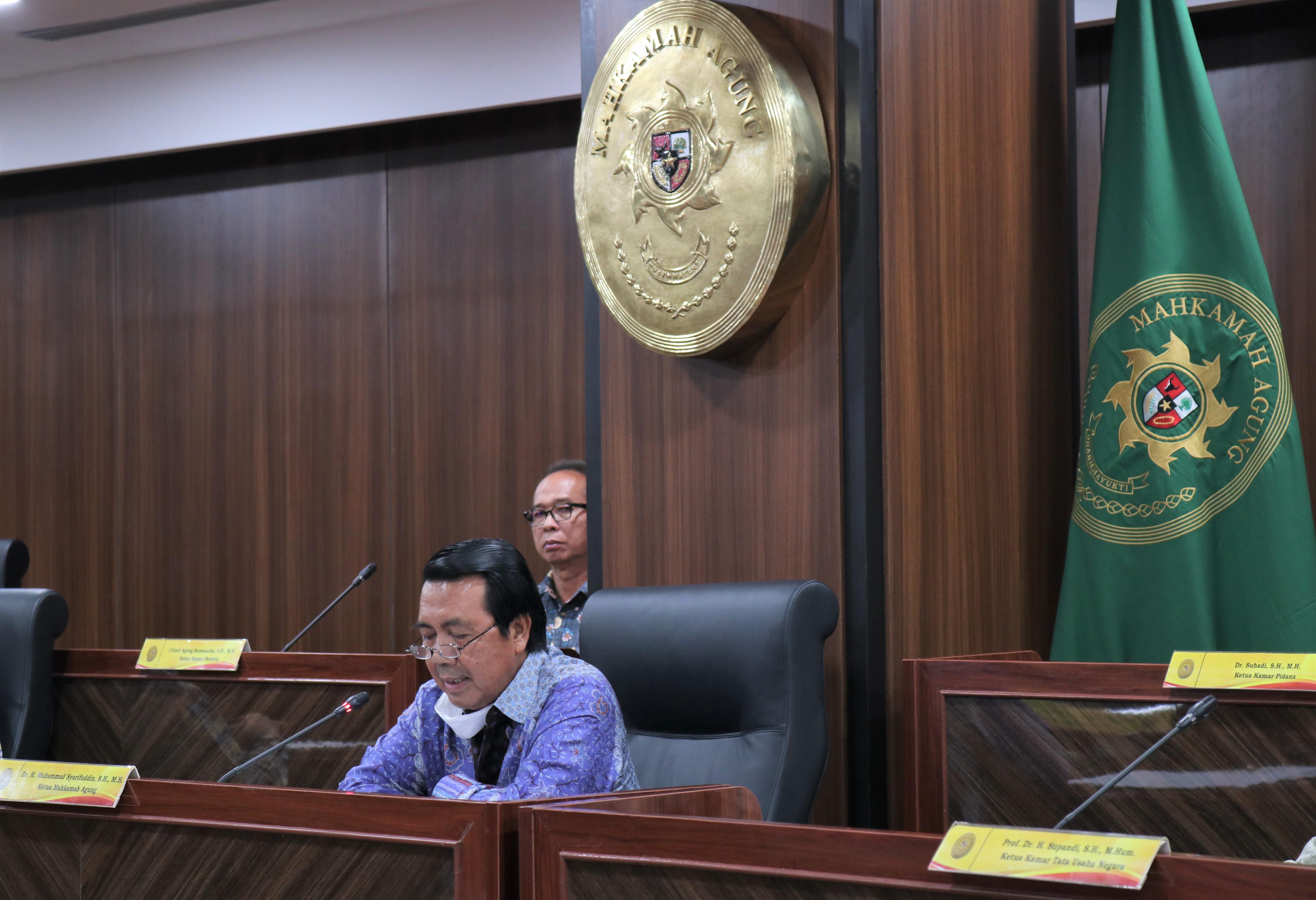 Sampaikan Pidato Perdana, Dr. Syarifuddin Ajak Masyarakat Untuk Sama-Sama Memajukan Dunia Peradilan