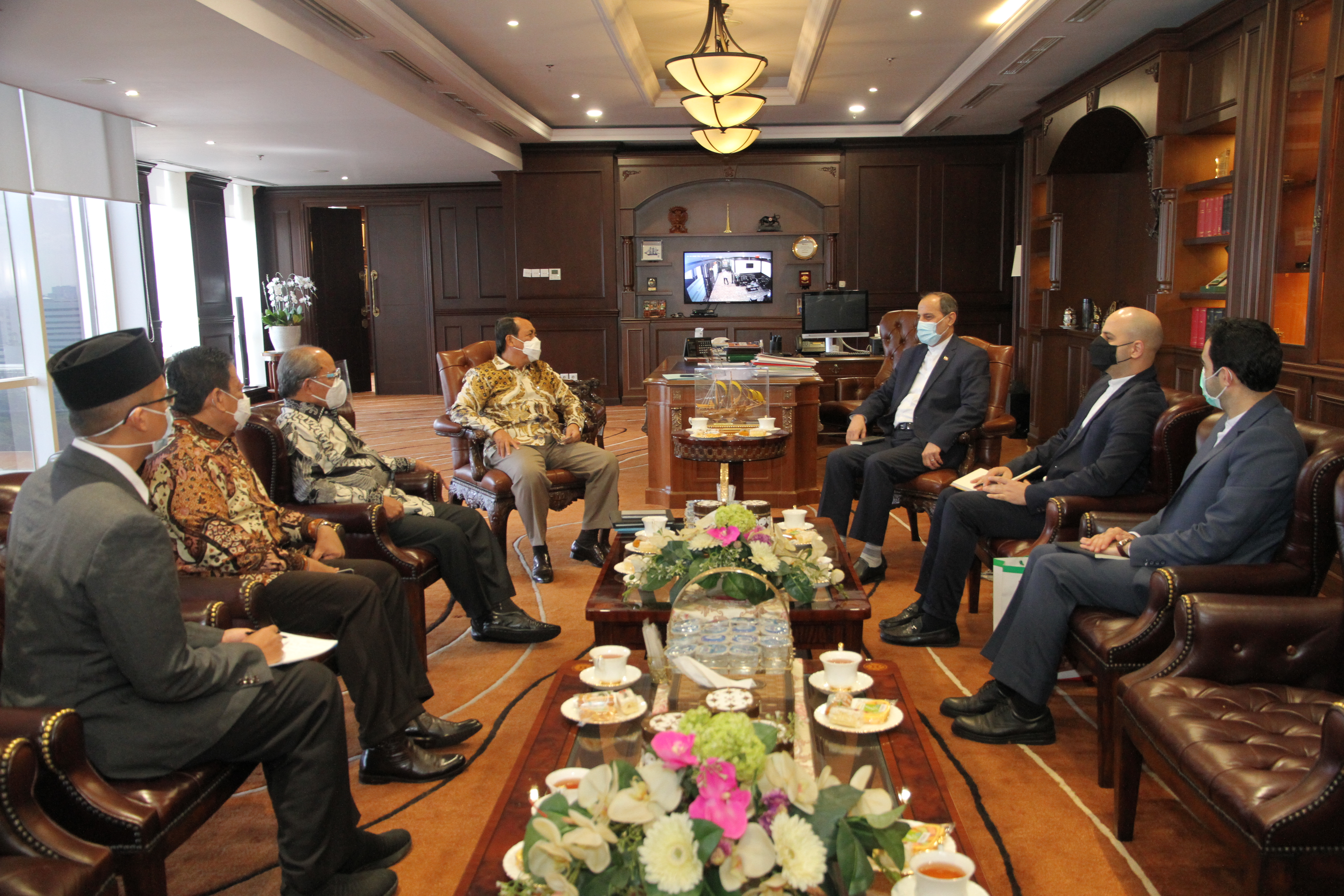 KETUA MAHKAMAH AGUNG MENERIMA KUNJUNGAN DUTA BESAR IRAN UNTUK INDONESIA